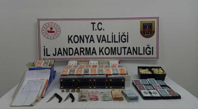 Konya'da kumar oynayan ve Kovid-19 tedbirlerini ihlal eden kişilere 49 bin 346 lira ceza