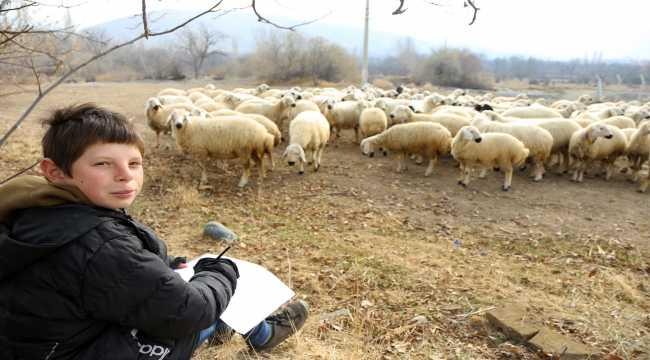 Konyalı 'küçük çoban' herkesin beğenisini kazanıyor