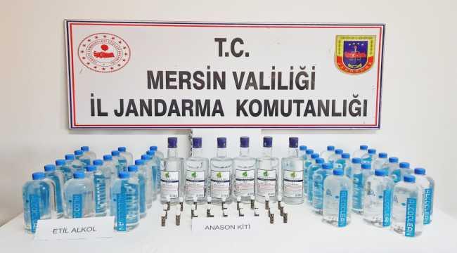 Mersin'de sahte içki operasyonunda 3 şüpheli yakalandı
