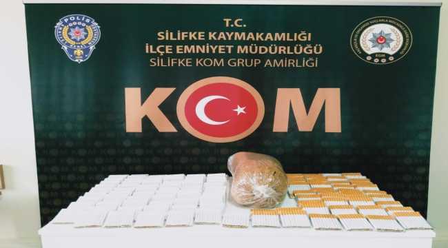 Mersin'de sahte içki ve gümrük kaçağı sigara operasyonu