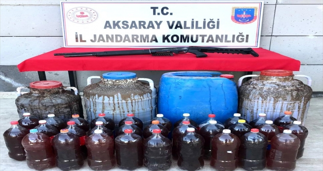 Aksaray'da 375 litre sahte şarap ele geçirildi: 4 gözaltı