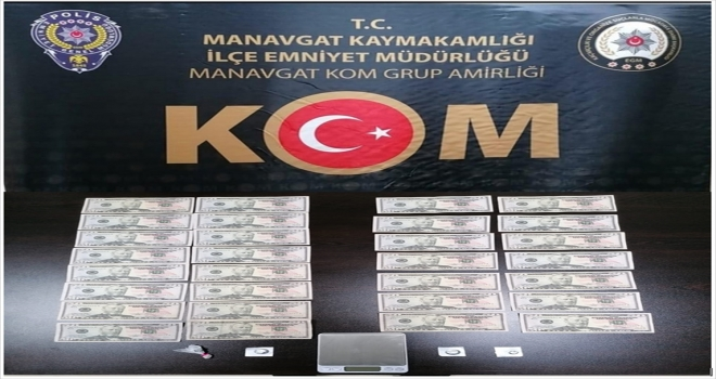 Antalya'da piyasaya sahte para sürmeye çalıştığı öne sürülen 5 kişiden biri tutuklandı