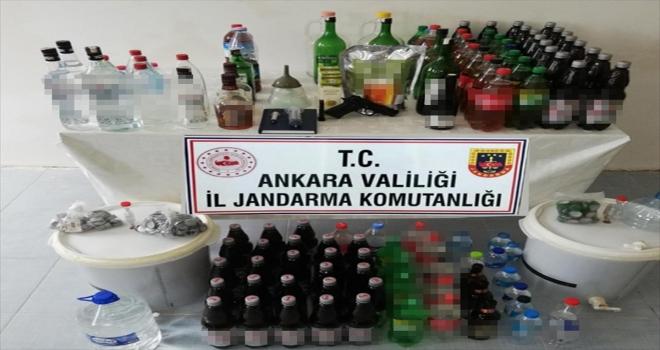 Başkentte sahte alkollü içecek satan bir kişi yakalandı