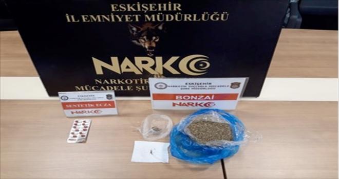 Eskişehir'de uyuşturucu operasyonunda yakalanan bir şüpheli tutuklandı