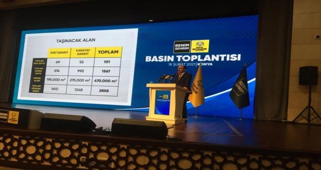 Konya Büyükşehir Belediye Başkanı Altay, Eski Sanayi ve Karatay Sanayi'nin taşınması çalışmasını değerlendirdi
