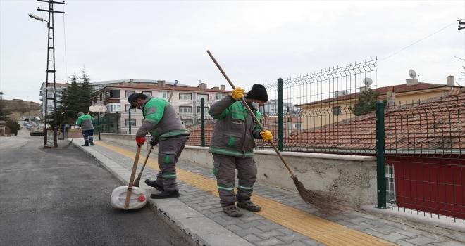 Mamak Belediyesi temizlik için tam kadro sokağa çıktı