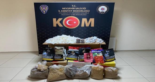 Nevşehir'de tütün kaçakçılığı operasyonunda 2 zanlı yakalandı