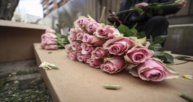 Salgından etkilenen çiçekçi esnafının umudu, 14 Şubat Sevgililer Günü