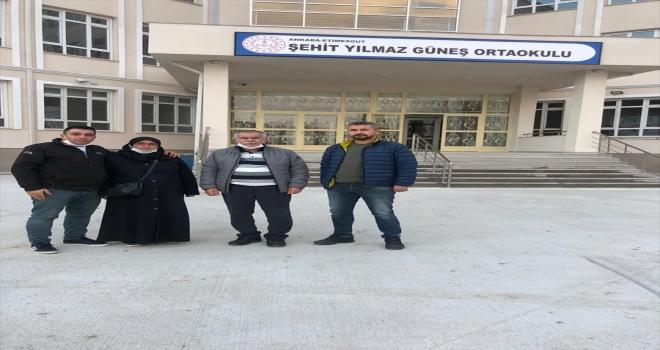 Şehit Jandarma Uzman Çavuş Yılmaz Güneş'in ismi Ankara'da bir okula verildi