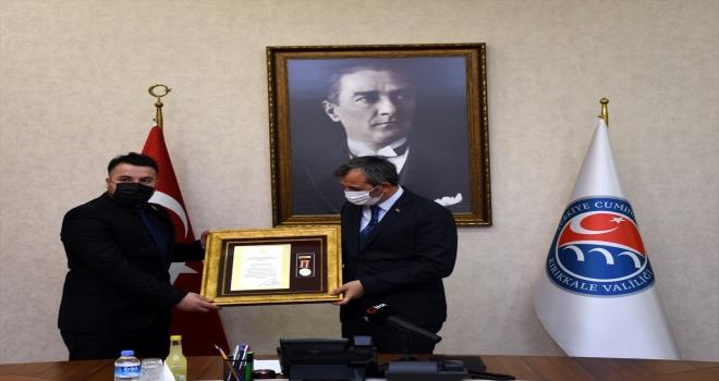 Kırıkkale'de gazi jandarma uzman çavuşa devlet övünç madalyası ve beratı verildi