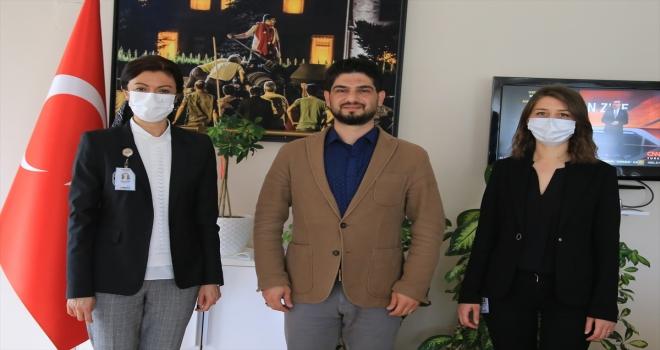 LÖSEV heyetinden, AA Antalya Bölge Müdürlüğü'ne ziyaret