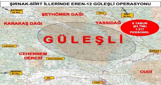Şırnak ve Siirt'te 1317 personelin katılımıyla