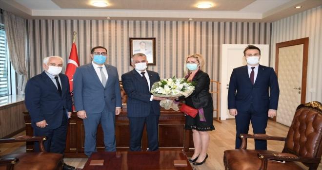 Antalya Valisi Yazıcı, TÜİK yönetimini kabul etti
