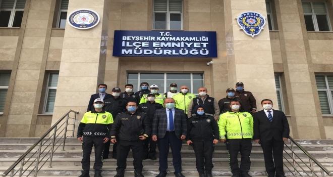 Beyşehir'de üstün başarı gösteren polis teşkilatı mensupları ödüllendirildi