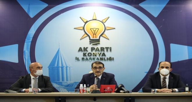 Enerji ve Tabii Kaynaklar Bakanı Dönmez, AK Parti Konya İl Başkanlığını ziyaret etti: