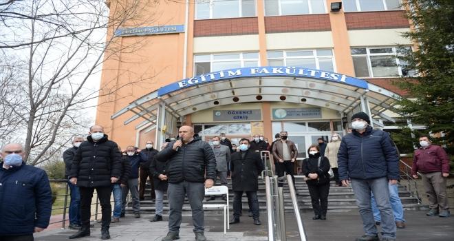ESOGÜ'deki silahlı saldırıda hayatını kaybedenler törenle anıldı