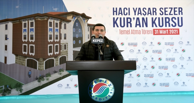 Hacı Yaşar Sezer Kur'an Kursu'nun temeli törenle atıldı