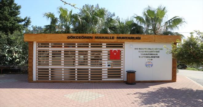 Kaş'ın Gökçeören Mahallesi'ne muhtarlık ofisi yapıldı