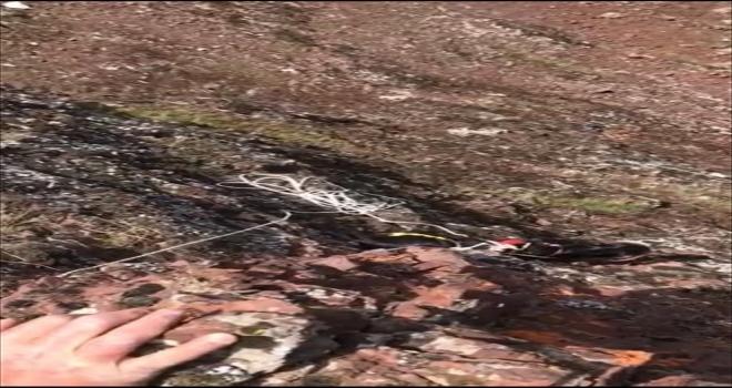 Kırıkkale'de kayalıkta mahsur kalan keçi AFAD ekiplerince kurtarıldı