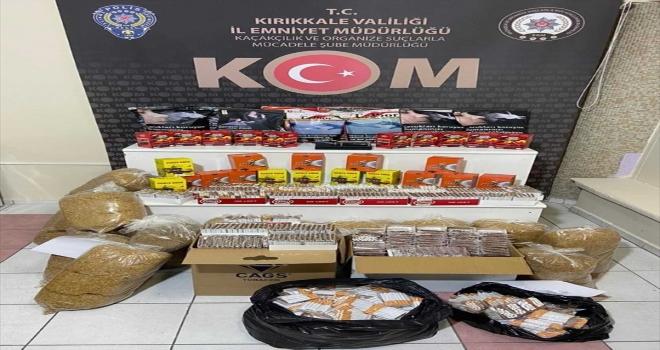 Kırıkkale'de makaron, kaçak tütün ve bandrol ele geçirildi