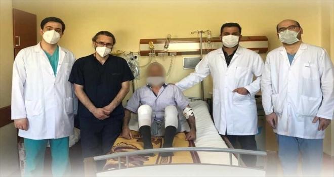 Kırşehir'de ilk defa diz kireçlenmesi  ameliyatı yapıldı