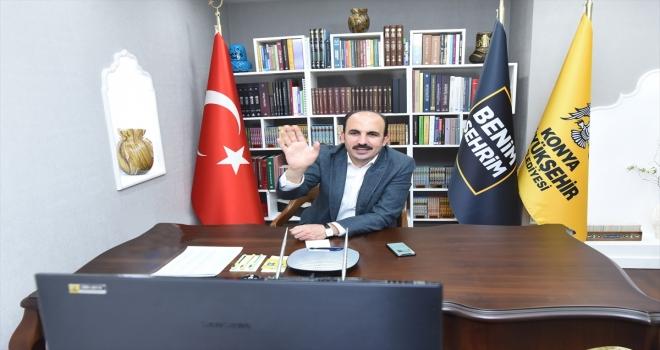 Konya Büyükşehir Belediye Başkanı Altay, çocuklarla buluştu