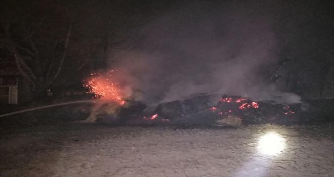 Konya'da çiftlikte çıkan yangın söndürüldü