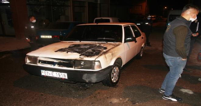 Konya'da seyir halindeki otomobilde çıkan yangın söndürüldü