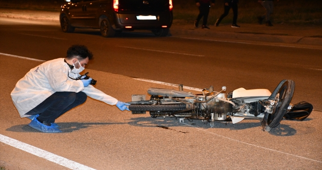 Sivas'ta devrilen motosikletin sürücüsü öldü