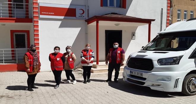 Türk Kızılay Sorgun Şubesi tam kapanma günlerinde de yardımlarını sürdürecek