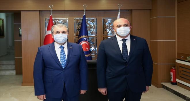 BBP Genel Başkanı Destici, Türkiye Çimse - İş Sendikası Genel Başkanı Nazlım'ı ziyaret etti