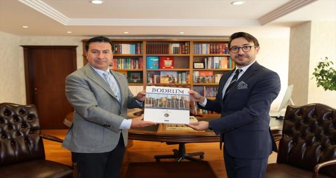 Bodrum Belediye Başkanı Ahmet Aras, AA Genel Müdürü Serdar Karagöz'ü ziyaret etti