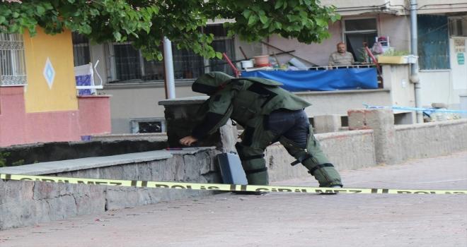 Kayseri'de fünyeyle patlatılan şüpheli çanta boş çıktı