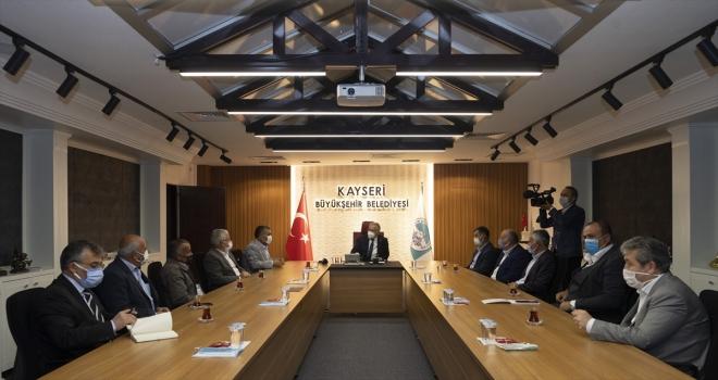 Kayseri'de ziraat odası başkanlarından Büyükkılıç'a teşekkür ziyareti