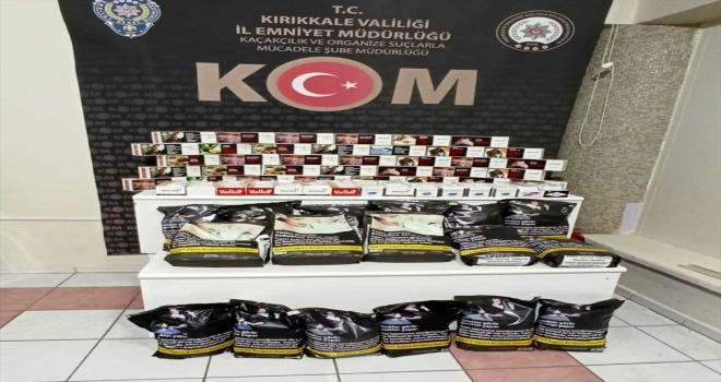 Kırıkkale'de makaron ve kaçak tütün ele geçirildi