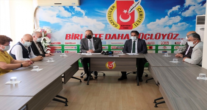 KTO Başkanı Gülsoy'dan Kayseri Gazeteciler Cemiyeti'ne ziyaret