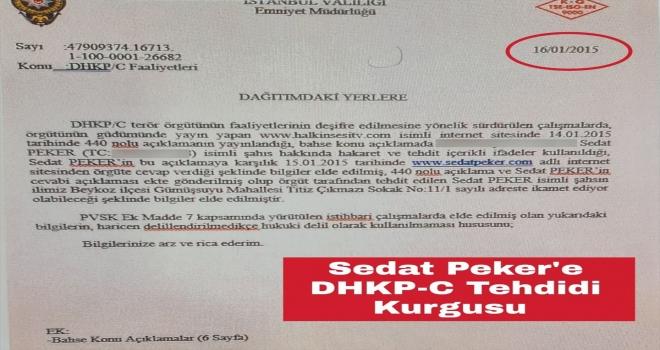 Suç örgütü elebaşı Sedat Peker'e