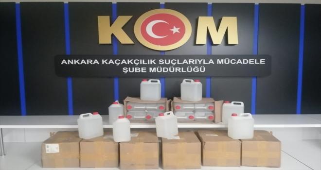 Ankara'da kaçakçılık operasyonunda 1600 litre sahte alkollü içki ele geçirildi