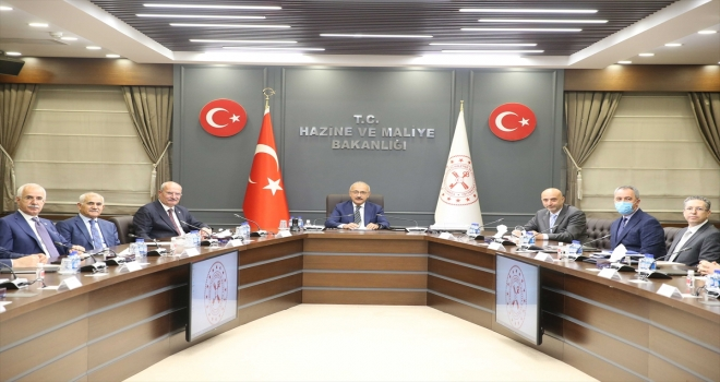 Bakan Elvan, ATO Başkanı Baran ile Yönetim Kurulu üyelerini kabul etti