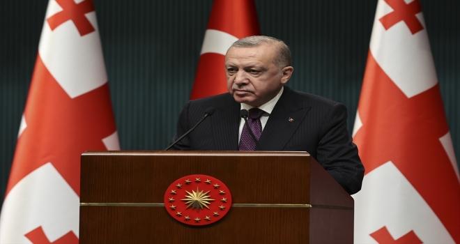 Cumhurbaşkanı Erdoğan, Gürcistan Başbakanı Garibashvili ile ortak basın toplantısında konuştu: