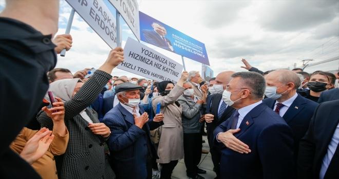 Cumhurbaşkanı Yardımcısı Oktay, Kovid-19 salgınına karşın yatırımların çok hızlı sürdüğünü söyledi: