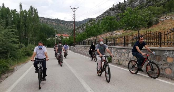 Derebucak'ta bisiklete binme etkinliği