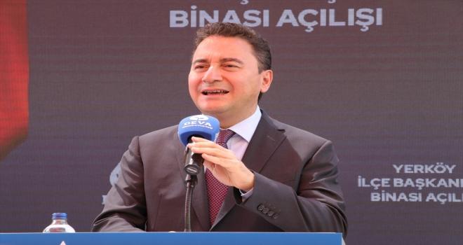 DEVA Partisi Genel Başkanı Babacan, Türkiye'nin tek umudu oldukları bilinciyle çalıştıklarını söyledi