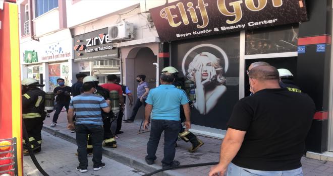 Karaman'da iş yerinde yangın çıktı