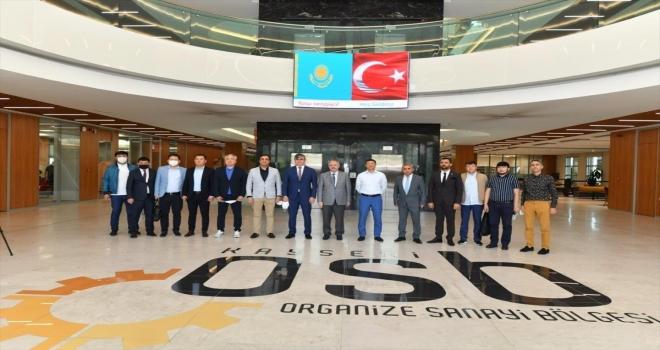 Kazakistan Büyükelçisi Saparbekuly ve beraberindeki heyet, Kayseri OSB'yi ziyaret etti
