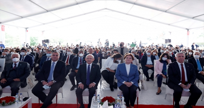 Kılıçdaroğlu ve Akşener, Çankaya Belediyesinin Temel Atma ve Toplu Açılış Töreni'ne katıldı