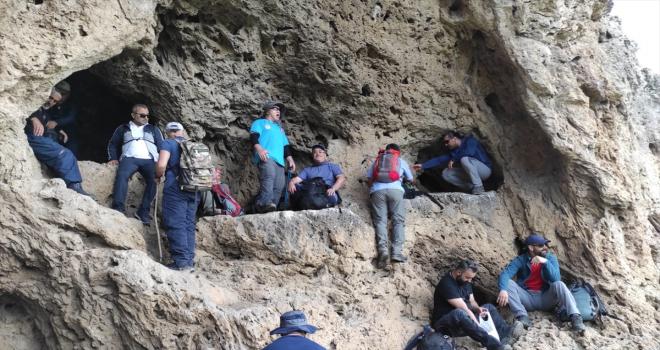 Sivas'ta doğa tutkunları Değirmenaltı Şelalesi ve çevresini gezdi
