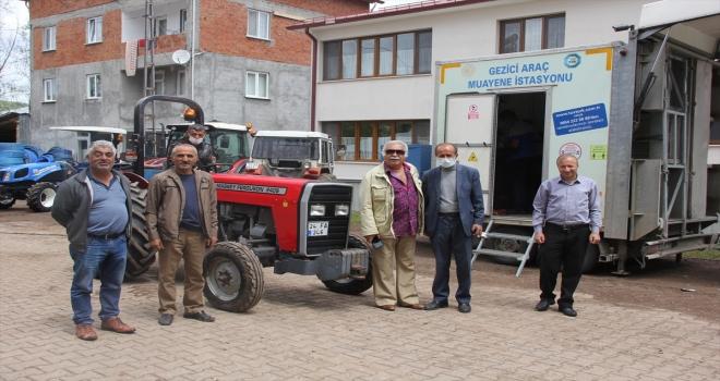 Zara'da gezici muayene istasyonu köylerde hizmet veriyor