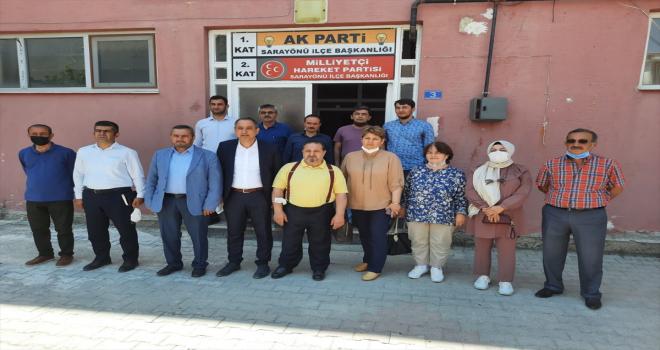 AK Parti Konya Milletvekili Hacı Ahmet Özdemir, Sarayönü'nü ziyaret etti