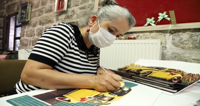 Aksaray'da rölyef ve el sanatları eğitimi alan 8 kadın kurdukları kooperatifle ihracata başladı